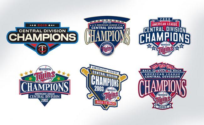 MN Twins champion logos